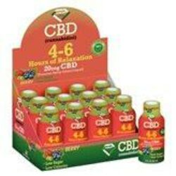 4-6 Hours of Relaxation Diamond CBD Shot 20mg (60ml) - Berry [12-pack]