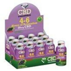 4-6 Hours of Relaxation Diamond CBD Shot 20mg (60ml) - Grape [12-Pack]