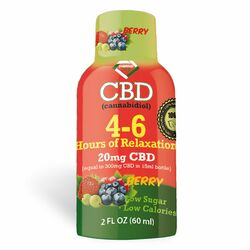 4-6 Hours of Relaxation Diamond CBD Shot 20mg (60ml) - Berry [Single]