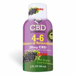 4-6 Hours of Relaxation Diamond CBD Shot 20mg (60ml) - Grape [Single]