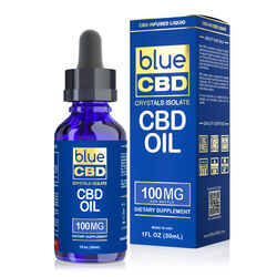 Blue CBD Crystals Isolate - 100mg (30ml)
