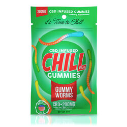 Chill Plus Gummies - CBD Infused Gummy Worms - 200mg