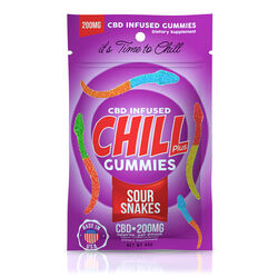 Chill Plus Gummies - CBD Infused Sour Snakes - 200mg