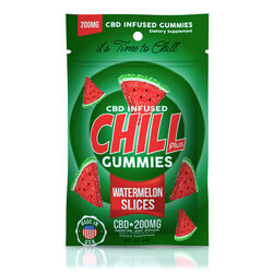 Chill Plus Gummies - CBD Infused Watermelon Slices - 200mg