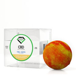 Diamond CBD Bath Bomb Vanilla Sugar & Patchouli - 100mg
