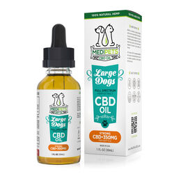 MediPets CBD Oil for Large Dogs - Strong Strength - 350mg (30ml)