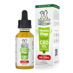 MediPets CBD Oil for Medium Dogs - Extreme Strength - 250mg (30ml)