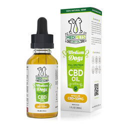 MediPets CBD Oil for Medium Dogs - Regular Strength - 50mg (30ml)