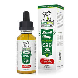 MediPets CBD Oil for Small Dogs - Extreme Strength - 100mg (30ml)
