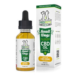 MediPets CBD Oil for Small Dogs - Regular Strength - 25mg (30ml)