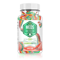 Meds Biotech Gummies - CBD Infused Rainbow Bites - 100mg