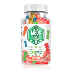 Meds Biotech Gummies - CBD Infused Sour Faces - 1000mg