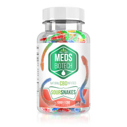 Meds Biotech Gummies - CBD Infused Sour Snakes - 1000mg