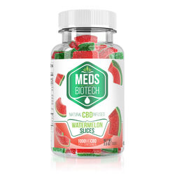Meds Biotech Gummies - CBD Infused Watermelon Slices - 100mg