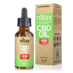 Relax Full Spectrum CBD Oil - 450mg
