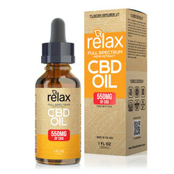 Relax Full Spectrum CBD Oil - 550mg