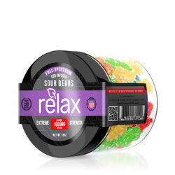 Relax Gummies - CBD Full Spectrum Sour Gummy Bears - 1000mg