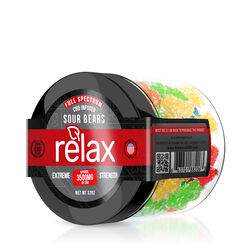 Relax Gummies - CBD Full Spectrum Sour Gummy Bears - 3500mg