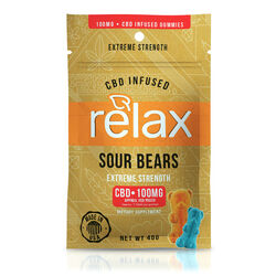 Relax Gummies - CBD Infused Sour Bears - 100mg