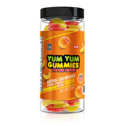 Yum Yum Gummies 1000mg - CBD Infused Peach Rings