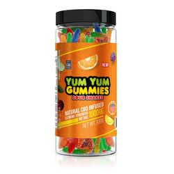 Yum Yum Gummies 1000mg - CBD Infused Sour Snakes