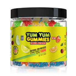 Yum Yum Gummies 1500mg - CBD Infused Sour Bears