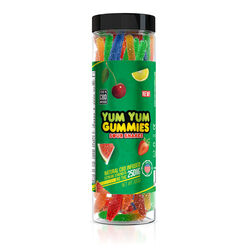 Yum Yum Gummies 250mg - CBD Infused Sour Snakes
